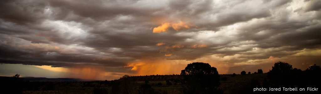 Santa Fe rainy sunset