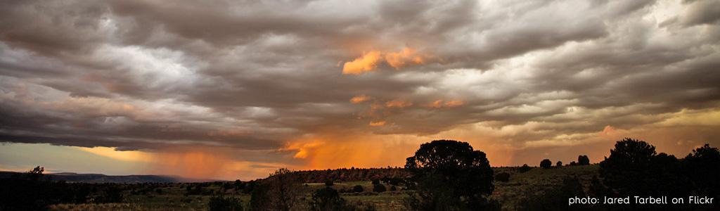 Santa Fe sunset rain